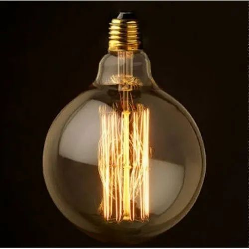 G125 LED Edison Filament Fancy Bulb, Shape: Round, 5 W and Below