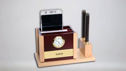 Wooden Mobile & Pen Holder