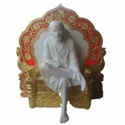 Throne Sitting Sai Baba Statue