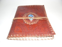 Designer Stone Handmade Binding Leather Journal