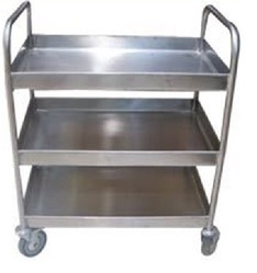 Stainless Steel Trolley - Stainless Steel Three Tray Trolley