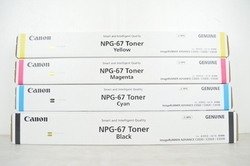 Canon NPG 67 Toner Cartridge Full Set
