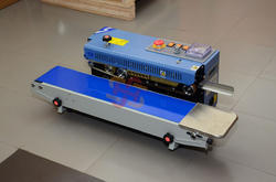Heavy Gear Horizontal Band Sealer Machine with Emerge Stop
