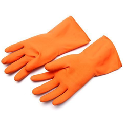 Unisex Orange Hand Gloves Latex Sheets