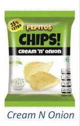 Cream & Onion Potato Chips, Packaging: Carton