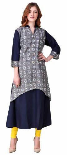 78cefc8bab Summer Cotton Kurtis - Women Long Anarkali Kurti With Jacket ...