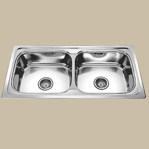 Prestige Stainless Steel Double Bowl Kitchen Sink Rs 5300 Piece Id 20260959688