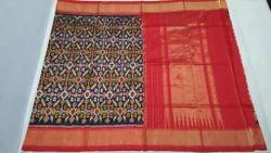 Pure Silk Ikkat Saree, Length: 6 m