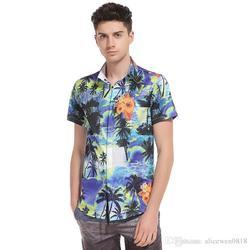 Satin Mens Beach Shirt