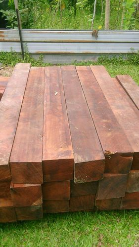 7 Brown Vengai Wood Plank Thickness