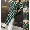 Mfc Formal Wear Round Neck Designer Ladies Kurti, Size: 40-46