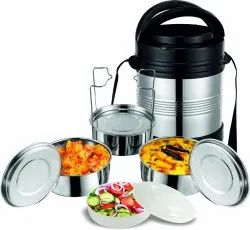 Silver Rident Kitchen Thermosteel Royal Insulated Tiffin Box