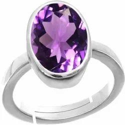 Women and Men Amethyst Gemstone Ring