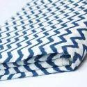 Zig Zag Hand Block Printed Fabric By Vandana Textile