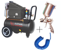 Painter Spray Gun (Label) Elephant Air Compressor with PU Pipe and Fittings, 30L