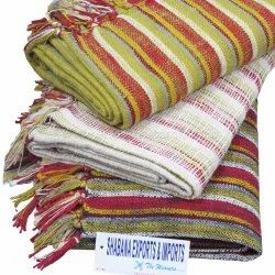 Cotton Blankets Large Woven Throws