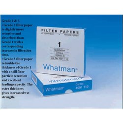 Round Whatman Filter Paper, Model Number: Grade 1, For Filtration