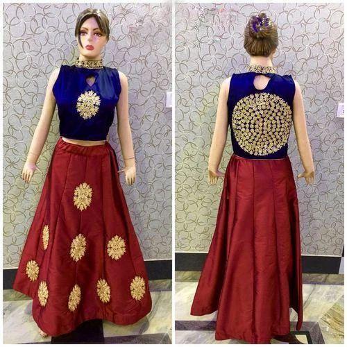 7808a145a Crop Top Lehenga - Party Wear Crop Top Lehenga Manufacturer from Jaipur