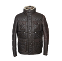 Men Choco Color Mens Leather Jacket