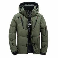 Full Sleeve Hooded Mens Polyester Winter Jacket, Size: S-XXL