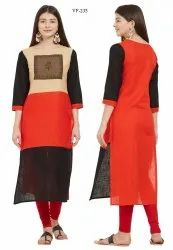 Party Wear Slab Cotton Kurti