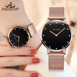 aesop Cirdel Rose Gold Bracele Ladies Watch