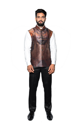 Men Printed Jawahar Cut Jacket CPS161