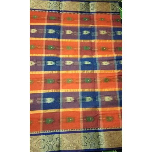 Krishnakoli Fashion World Party Wear Cotton Tant Handloom Santipur Printed Saree