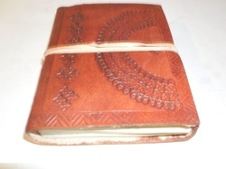 Embossed Handmade Leather Journal