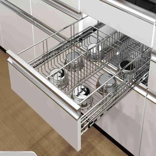 Aluminum Modular Kitchen Designing In Chromepet Chennai: Modular Kitchen Basket, मॉड्यूलर किचन बास्केट