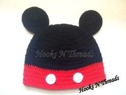 Hooks N Threads Handmade Crochet Mickey Mouse Baby Hat at Rs 320 ... 330e674bdef