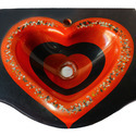 Glass Wash Basin Heart Shaped