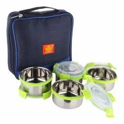 Rident Kitchen Stainless Steel Insulated Sleek & Premium Lunch Box, 4 Airtight Containers, Size: Big