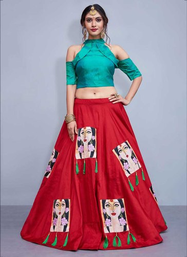 Kesari Exports Party Wear Crepe Lehenga Choli