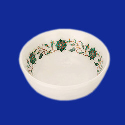 Marble Bowl with Inlay Work