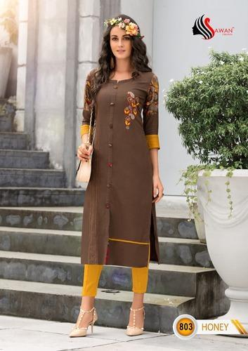 63527a1120 KURTI 2 - Poonam Diva Vol 3 Khadi Cotton Kurti Wholesaler from Surat