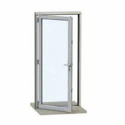 Hinged Plain Aluminium Glass Door