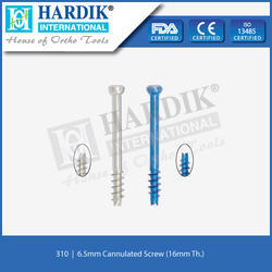 6.5mm Cannulated Screw (16mm Thread)