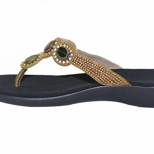 Gold Designer Sandals, Rs 1299 /pair