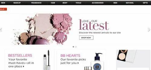 Online Beauty Products Shop Website Development (E Commerce Website )