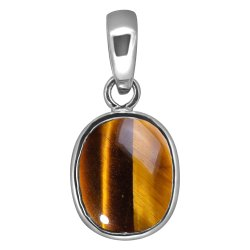 Tiger Eye Silver Pendant Gemstone
