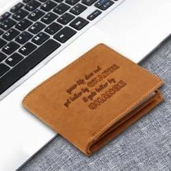 RFID Protected Bi-fold Hunter Genuine Leather Wallet For Men