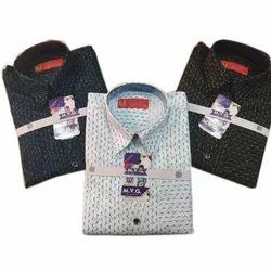 MVG Printed Kids Fancy Party Wear Cotton Shirt