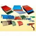 Galvanised Colour Coated Corrugated Sheet