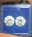 3ct Pair CVD Diamond J Color VS1 VS2 Round Brilliant Cut TYPE2A