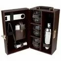 Leather Wine Bar Set