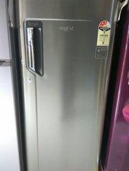 Gray Whirlpool Refrigerator