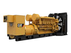 Silent or Soundproof Water Cooling Caterpillar 2000 KVA DG Set, 415, Model Name/Number: 3516