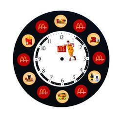 Multicolor Polished Round Wall Clock, Packaging Type: Box