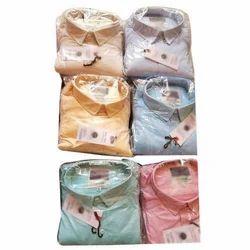 Mens Cotton Full Sleeve Plain Shirt, Size: M, L & XL